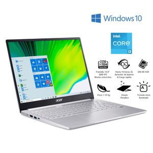 """Notebook Acer 13,5"""" Core i3 8GB 256GB SF313-53-318Z"""