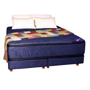 Conjunto RESORTES - Pillow top Suavidad 200 X 200 azul
