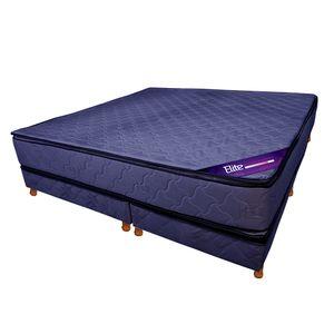 Conjunto RESORTES - Pillow Top 200 X 200 azul
