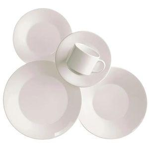 Juego de Vajilla 30 Piezas Biona by Oxford Ceramica Blanco 0112418430