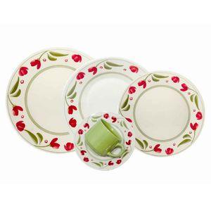 Juego de Vajilla 30 Piezas Biona by Oxford Ceramica Roseli Dec 1269 0112424830