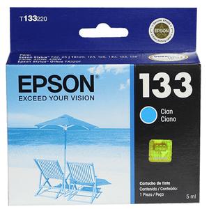 Cartucho Epson T133220-Al color Cyan