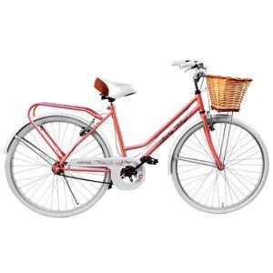 Bicicleta JVK Bikes Rodado 26s Samon y Blanco FULL VINTAGE LORELEY