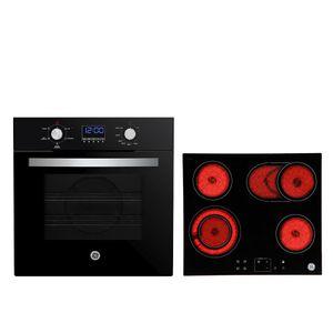 Combo Horno Eléctrico 60 cm Grill Negro HG6035EVAI0 + Anafe Eléctrico Vitrocerámico 60 cm Negro AEGE62VN0 GE Appliances