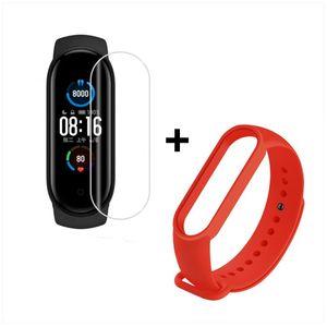 Smartwatch Xiaomi Mi Band 5 más Pulsera Roja De Regalo