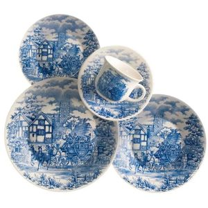 Juego de Vajilla 30 Piezas Biona by Oxford Ceramica Cena Inglesa 0112541830