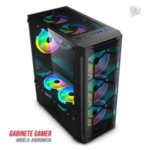 Gabinete Level Up Gabinete Gamer Andromeda Atx Vidrio Templado X3 Fan Rgb