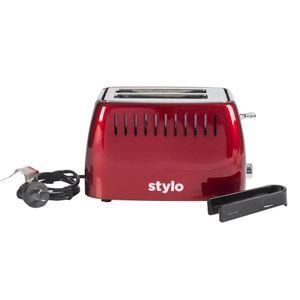Tostadora Digital Acero Inoxidable Stylo TSAR 2R Rojo Metalizado