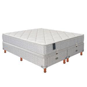 Sommier y Colchón de Resortes Springwall MCB303 180 x 200cm c/Refuerzo Lumbar y Base Baulera