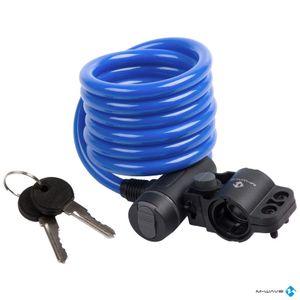 Cable de 180cm con llave y agarre azul