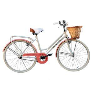 Bicicleta JVK Bikes Rodado 26 Blanca  Full Vintage Loreley