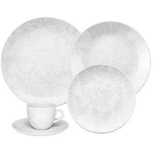 Juego de Vajilla 42 Piezas Oxford Porcelana Blanc Dec 4787 0112561742