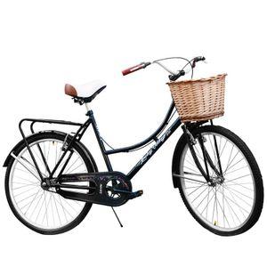 Bicicleta Rodado 26 JVK Bikes Loreley Vintage Negro