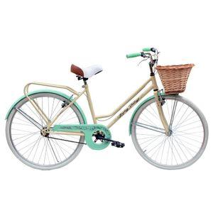 Bicicleta Rodado 26 JVK Bikes Loreley Vintage Beige