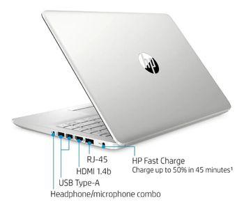 """Notebook HP 14""""/Ryzen 3 3250U/4GB/128GB Silver 14DK1022WM Win10H"""