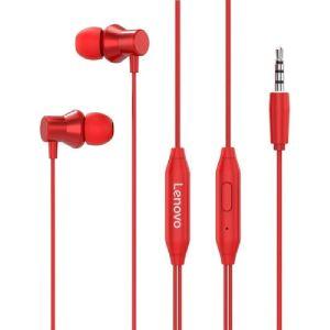 Auricular In-Ear Con Cable Lenovo Hf130 Rojo