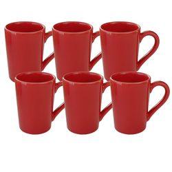 Set x 6 Jarros Mug 230 CC Biona by Oxford Ceramica Rojo 1994059