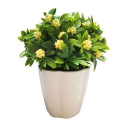 Planta Decorativa Gardenia Artificial En Maceta 18 cm