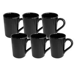 Set x 6 Jarros Mug 230 CC Biona by Oxford Ceramica Negro 1994060