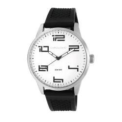 Reloj Hombre Caro Uomo blanco malla silicona negra CU06 MSBW