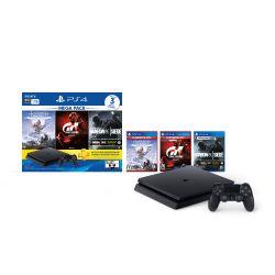 Consola PS4 1TB + Rainbow Six Siege + Horizon Zero Dawn + Gran Turismo Sport