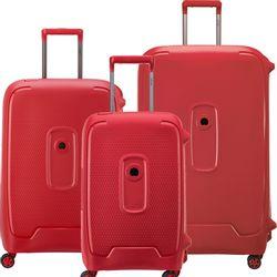 Set de 3 Valijas Delsey Moncey Rojo