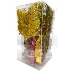 Adorno Navideño Kit x 60 Piezas Rojo-Oro