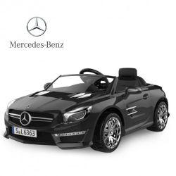 Auto a Bateria Mercedes Benz 12V con Asiento de Cuero 3023 Color Negro