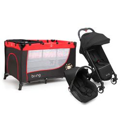 Combo Practicuna Bring 6101 Rojo + Travel System Bring 5205 Negro