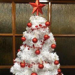 Arbol de Navidad del Campeon Blanco Rojo 1 Mtr 33ad