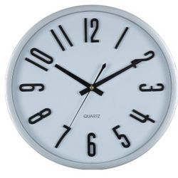 Reloj De Pared Blanco Con Numeros Estilo Ingles 35 Cm