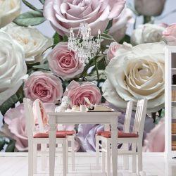 Vinilo Mural Para Pared Muresco Flor Rosa 8736 + Pegamento