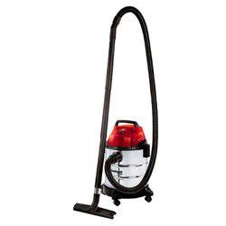 Aspiradora Einhell Industrial Acero 20 Litros Aspira Polvo y Agua Apta para Auto TE-VC 1820S