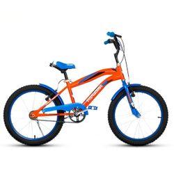 Bicicleta Niño TopMega Varón Rodado 20 Color Azul Naranja