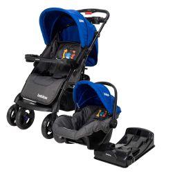 Cochecito de Bebé Bebitos BE N719 Azul + Huevito