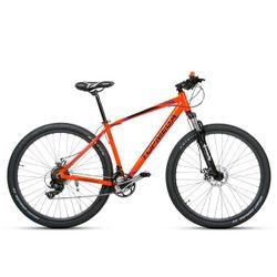 Bicicleta Mountain Bike TopMega Sunshine R29 Aluminio 21 Cambios Color Naranja