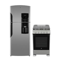 Combo GE Appliances Heladera No Frost 542Lts Inox RGS1951BGRX0 + Cocina 55cm Inox CG756I