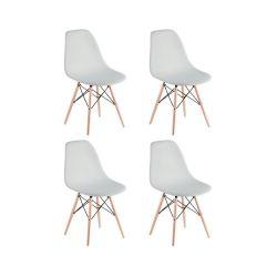 Combo de Sillas de Diseño Eames x 4 Color Blanco
