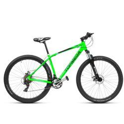 Bicicleta Mountain Bike TopMega Sunshine Rodado 29 Aluminio 21 Cambios Color Verde