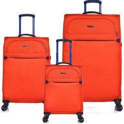 Set de 3 Valijas Expandibles Verage Flight Naranja
