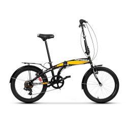 Bicicleta Plegable TopMega Folding Rodado 20 16 Velocidades Color Negro y Amarillo