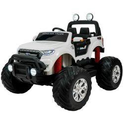Auto a Batería Bebitos Ford Monster Truck DK MT550 Blanco