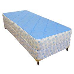 Colchón y Sommier de 1 Plaza 1/2 Inducol Jubilo Azul 100x190 cm
