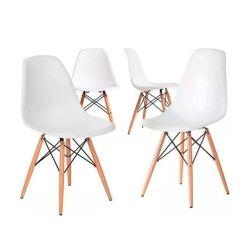 Set de 4 Sillas Eames Blancas