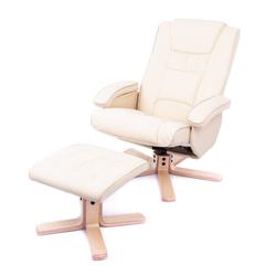 Sillón Masajeador Wolke Connery Reclinable Relax 8 Motores + Calor + Diseño + Cream Beige