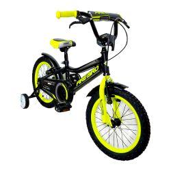 """Bicicleta Infantil Rodado 16"""" Fire Bird Negro y Amarillo"""