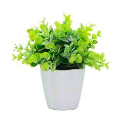 Planta Decorativa Eucalyptus Artificial en Maceta 16 cm