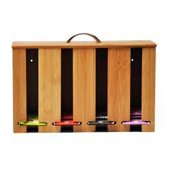 Caja Dispenser Organizadora Para Te De Bambu