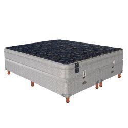 Sommier y Colchón de Resortes Springwall MCB115 c/Euro Pillow y Base Baulera 200x200cm