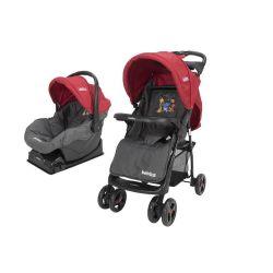 Cochecito de Bebé Bebitos BE N5A Rojo + Huevito